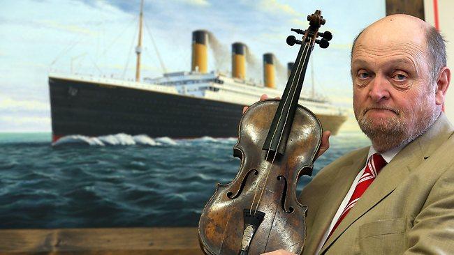 Titanic bandleader violin Wallace Hartle
