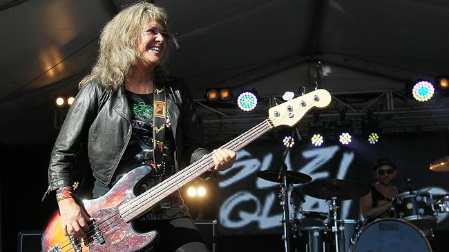 Suzi Quatro in action in Australia on a recent tour. Picture: Ross Marsden.