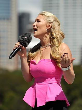 Euro-Aussie ... Anja Nissen has the pipes and the presence for Eurovision. Picture: Suppl