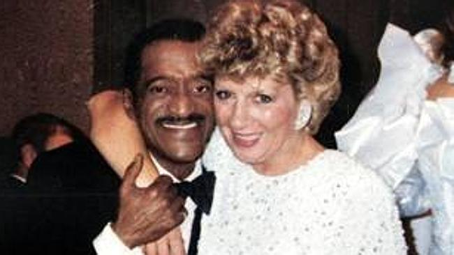 Neighbours theme writer Jackie Trent with entertainer Sammy Davis Jr.