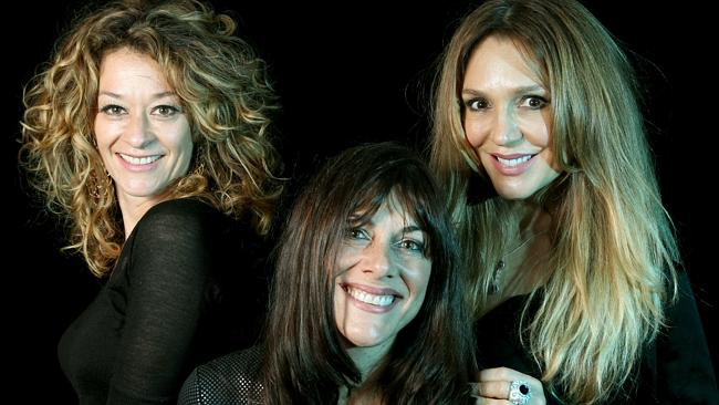 The Chantoozies, from left Evie von Bibra , Ally Fowler and Tottie Goldsmith .
