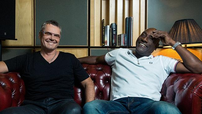 Left field ... INXS drummer Jon Farriss has recorded a new song — with cricket legend Viv