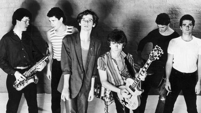 The early days ... INXS in 1981 — Kirk Pengilly, Jon Farriss, Michael Hutchence, Tim Farr