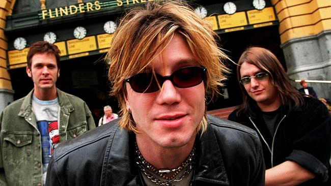 The Goo Goo Dolls in Melbourne 1998. Nice shades lads.