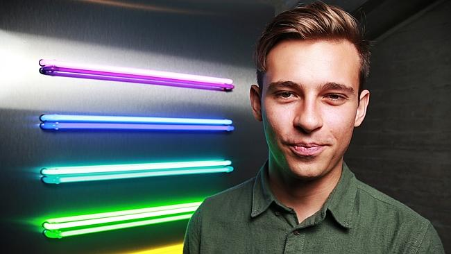 Flume writes most of his material in his bedroom, using a laptop.