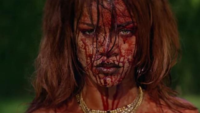 Tarantino-esque ... Rihanna unleashes in her new video clip. Picture: YouTube/RihannaVEVO