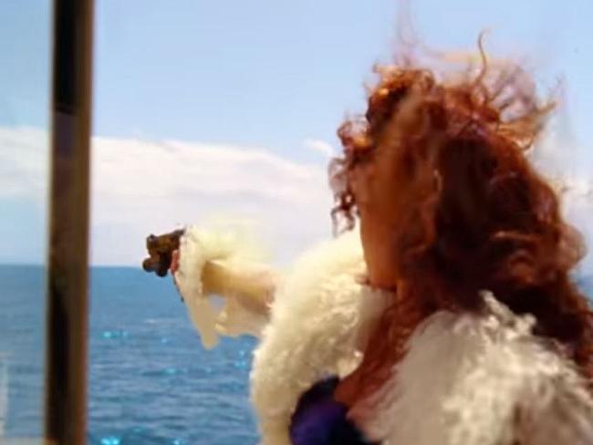 Handy with a gun ... Rihanna takes aim. Picture: YouTube/RihannaVEVO