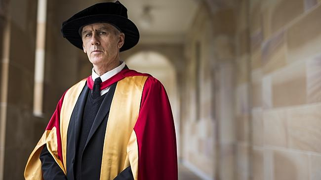 Robert Forster receives an honorary doctorate at University of Queensland. Pic: Mark Cran