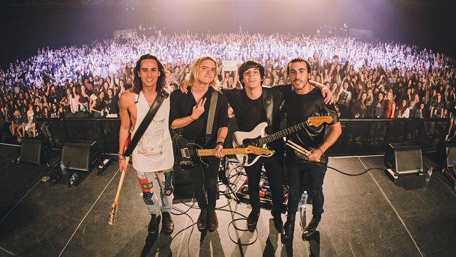 Fandemonium ... Little Sea scored one of the biggest crowds of their career at the Amplif