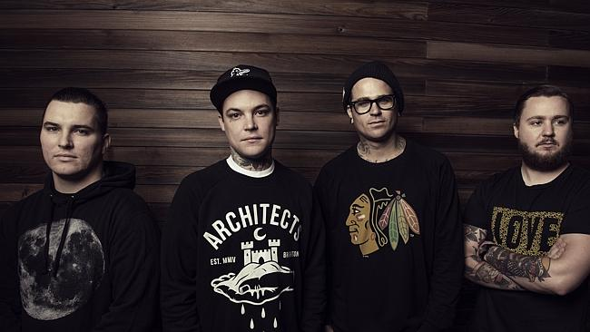 Rock on ... Amity Affliction step up to arenas for their final tour of 2015. Picture; Sup