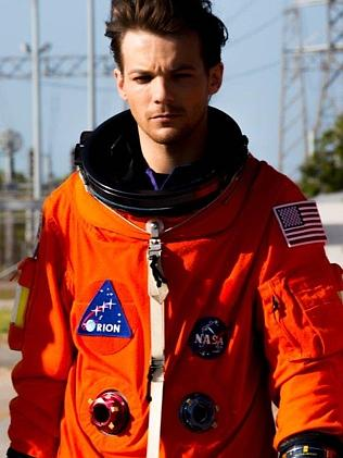 Top Gun ... Louis suits up for space. Picture Supplied