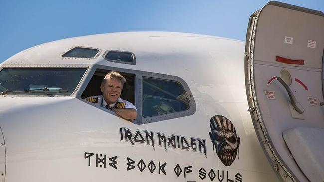 All aboard: Bruce Dickinson is a pilot when he's not busy fronting Iron Maiden.