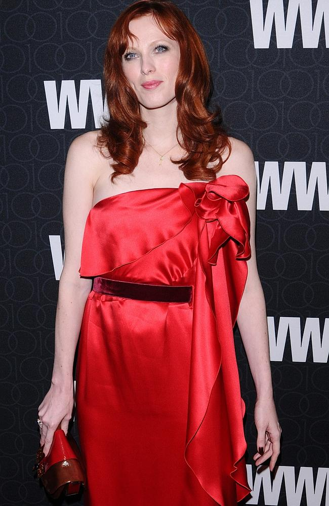 Red hot ... model Karen Elson. Picture: AP