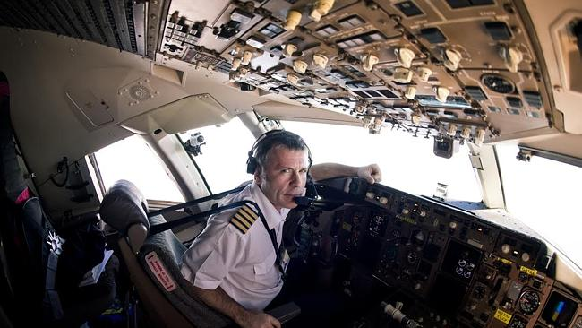 Captain's call: Bruce Dickinson in the cockpit of Ed Force One