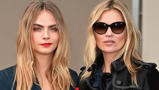 Model material ... supermodels Cara Delevingne and Kate Moss can both sing. Picture: Spla